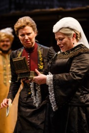 Kristin Hutchinson as Lady Sarah and Beatie Edney as Queen Victoria in The Empress. Photo by Steve Tanner