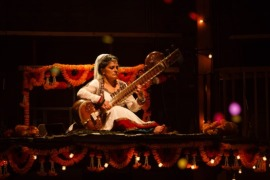 Sheema Mukherjee playing the Sitar in The Empress. Photo by Steve Tanner